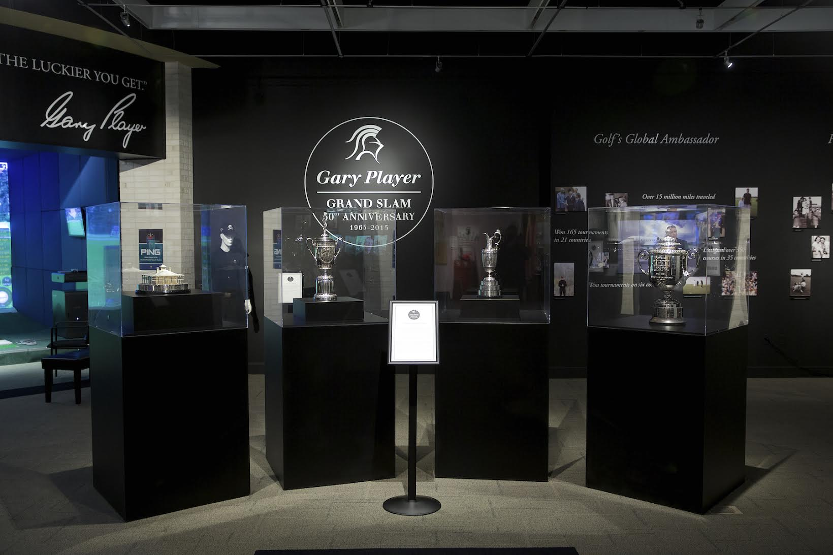 World Golf Hall Of Fame Museum Opens Gary Player Grand Slam Success Exhibition