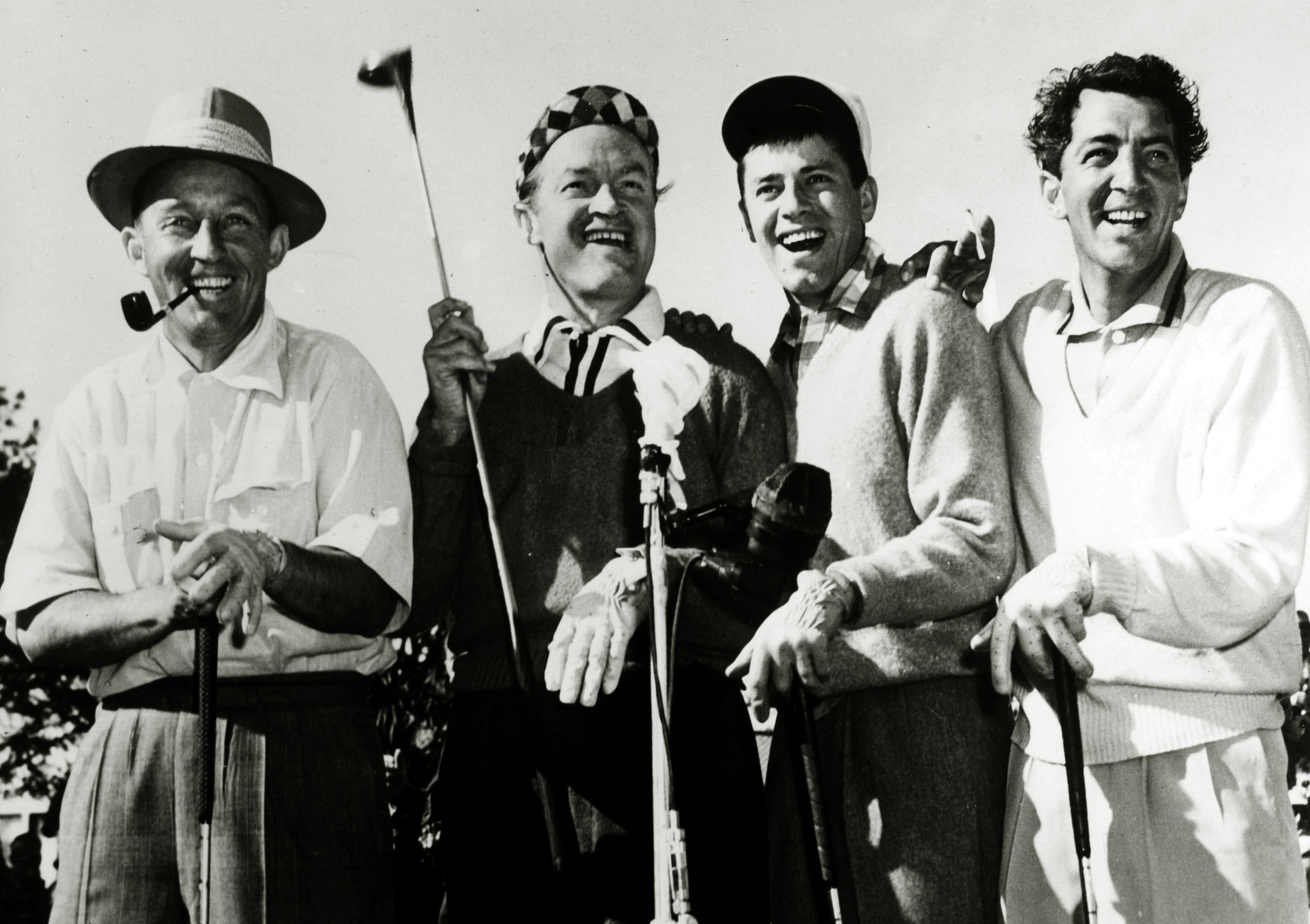 stage and screen music personalities pic circa 1950 s keen golfers