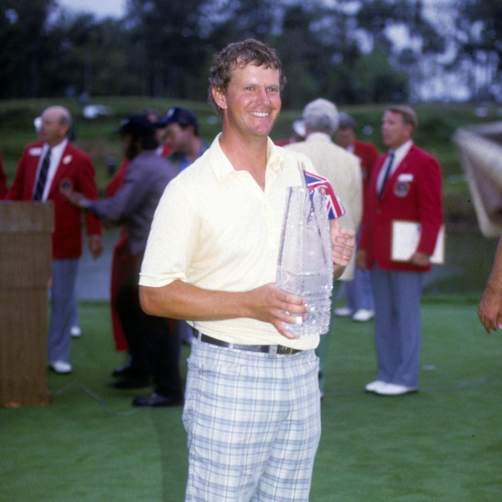 PONTE VEDRA BEACH, FL: Sandy Lyle at the 1987 THE PLAYERS Championship at TPC Sawgrass in Ponte Vedra Beach, Florida. (Photo by Michael O'Bryon/PGA TOUR)