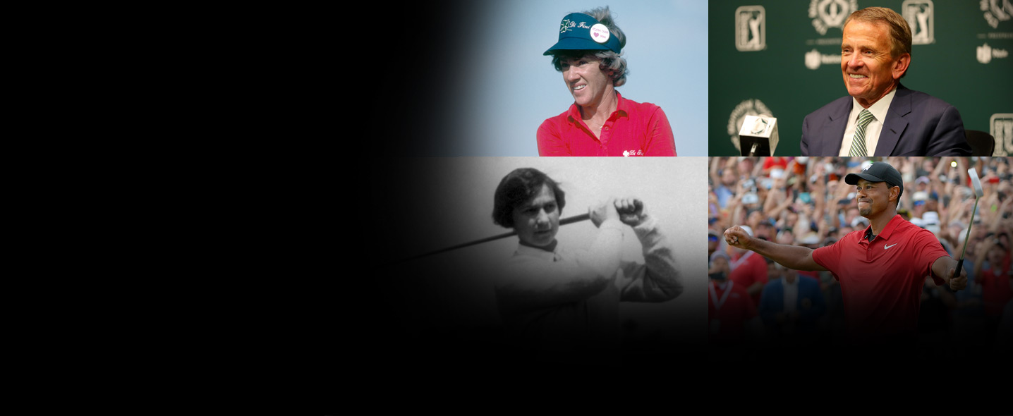 Susie Maxwell Berning, Tim Finchem, Marion Hollins and Tiger Woods