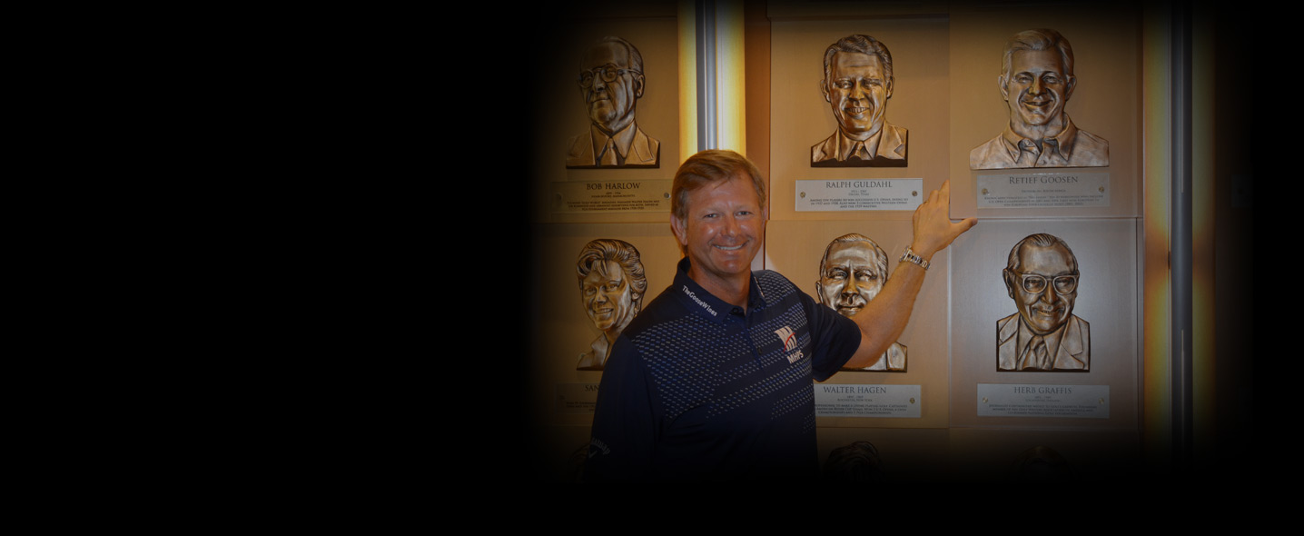 Visits the 2019 Inductee Exhibit at the Hall of Fame